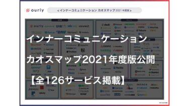 インナーコミュニケーションカオスマップ2021年度版を公開【全126サービス掲載】
